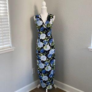 American Apparel Floral Tank Wrap Dress Size M
